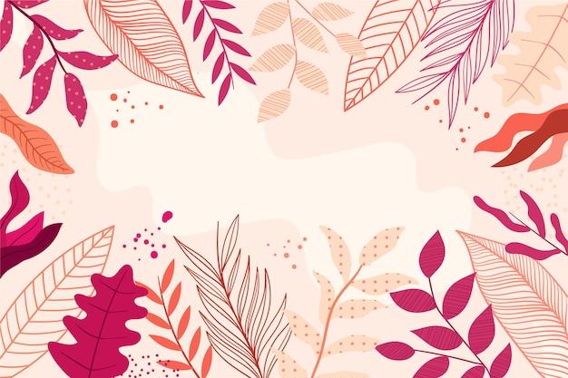 平らな抽象的な花の壁紙