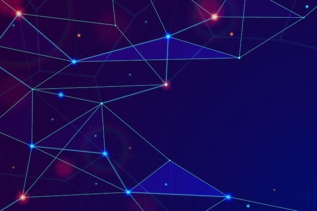 Фон реалистичные абстрактные технологии частиц