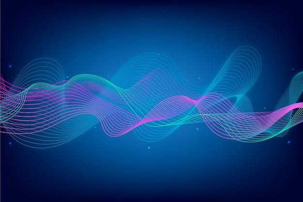 抽象的なイコライザー波スクリーンセーバー