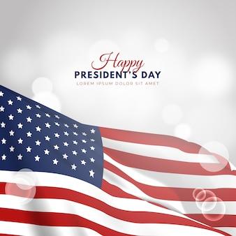 現実的な旗と大統領の日
