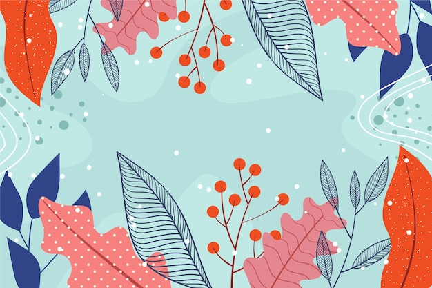 フラットなデザインの抽象的な花の壁紙スタイル