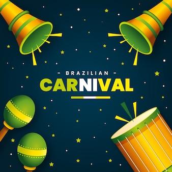 現実的なブラジルのカーニバルのコンセプト