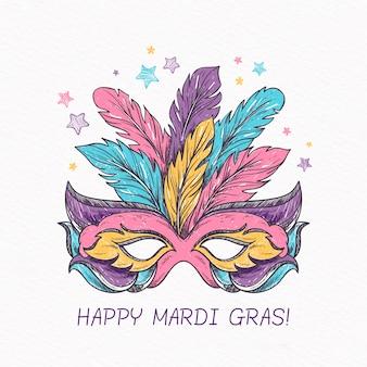手描きのマルディグラのコンセプト