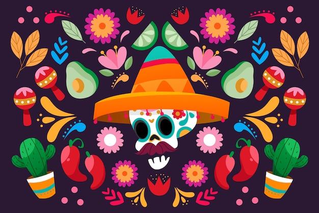 メキシコのカラフルな背景