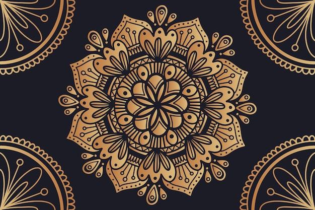Фон с роскошным дизайном мандалы