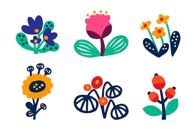 Нарисованная вручную концепция коллекции весеннего цветка