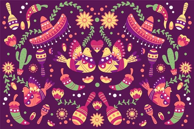 カラフルなメキシコの背景概念