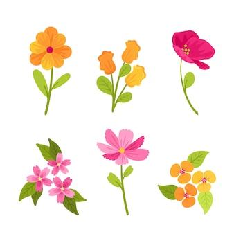 Красочная коллекция весенних цветов