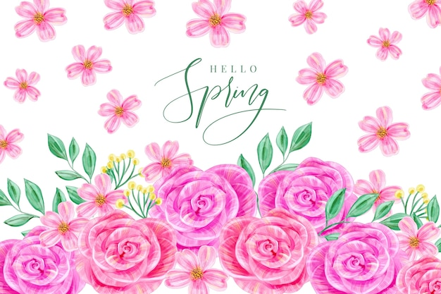 水彩春の背景
