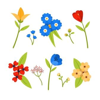 Красочная весенняя цветочная коллекция
