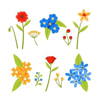 Красочный весенний цветок в стиле коллекции