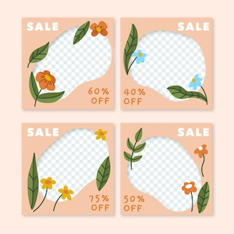 Весенняя распродажа инстаграм пост коллекция