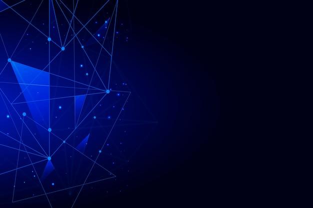 Абстрактное реалистичное понятие технологии частицы фона