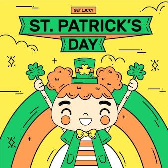 手描きの聖パトリックの日の概念