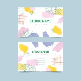 Абстрактный шаблон визитной карточки в пастельных тонах