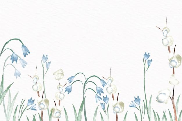 パステルカラースタイルの水彩花の背景