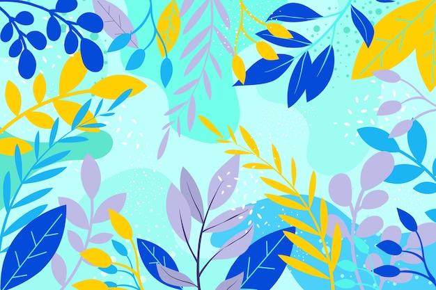 Плоский дизайн цветочный фон