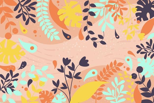 フラットなデザインの花の背景概念