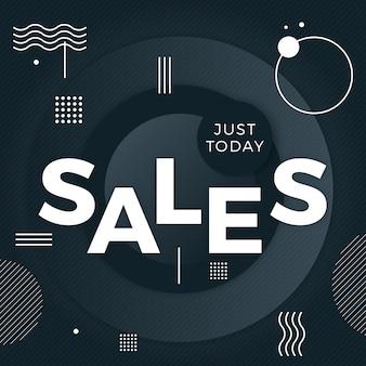 Абстрактный темный фон продаж