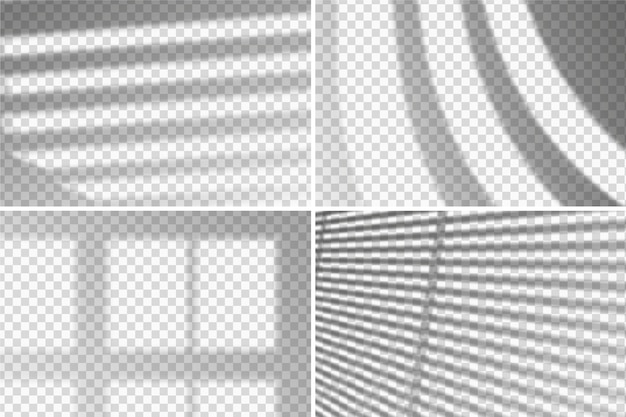 透明な影のオーバーレイ効果テーマ
