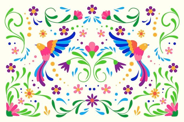 Красочный плоский мексиканский фон