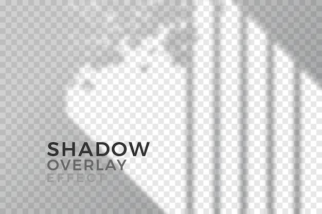 透明な影のテーマのオーバーレイ効果