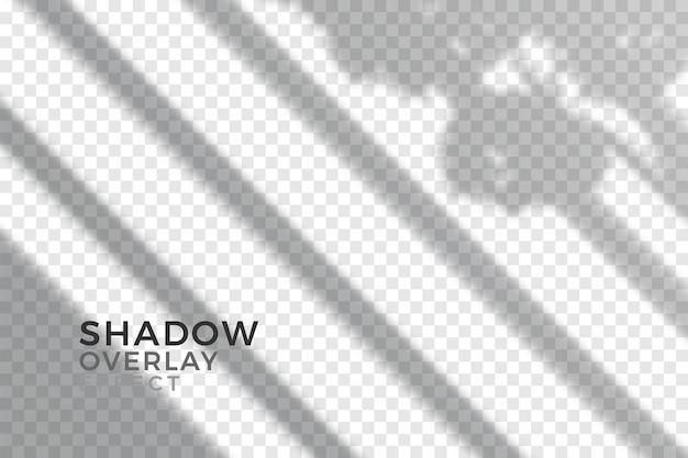 透明な影のデザインのオーバーレイ効果