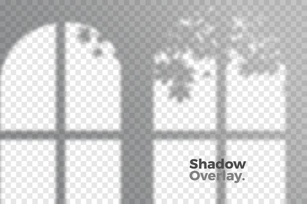 透明な影の概念の灰色のオーバーレイ効果