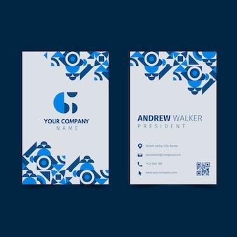 Классическая синяя визитка