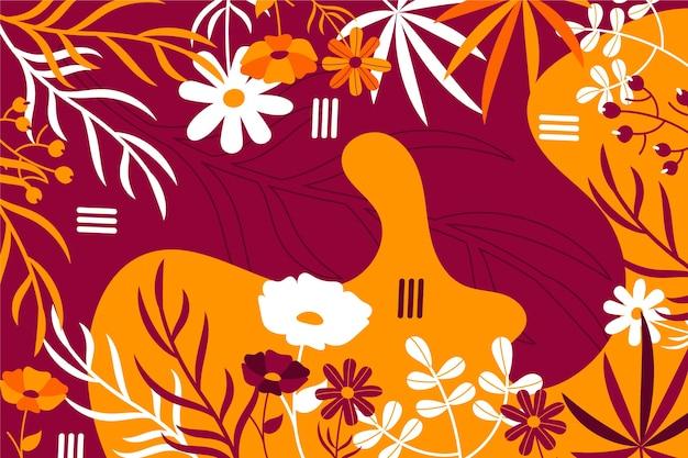 抽象的な花の平らな背景