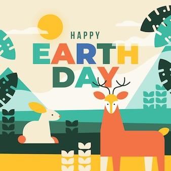 母なる地球の日のお祝いイベントコンセプト