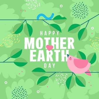母なる地球の日のお祝いイベントデザイン