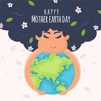 母なる地球の日のイベントのお祝いのコンセプト