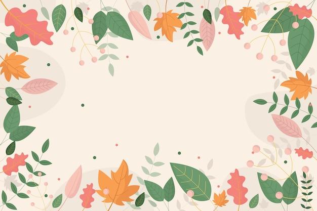 フラットなデザインの抽象的な花の壁紙テーマ