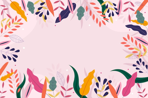 フラットなデザインの抽象的な花の壁紙コンセプト