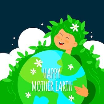 Нарисованная вручную концепция дня матери-земли
