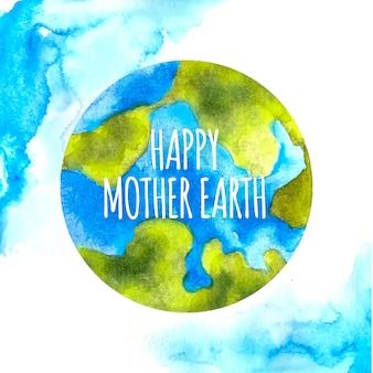Акварельная тема дня матери-земли