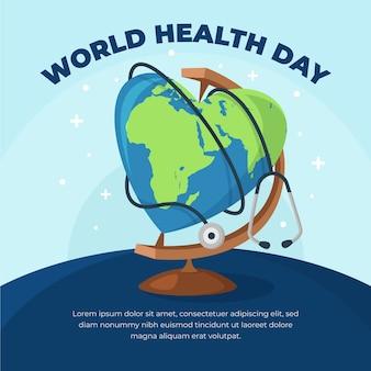 Плоский дизайн всемирный день здоровья