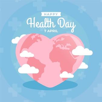 Плоский дизайн всемирный день здоровья стиль
