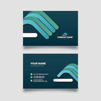 Абстрактный шаблон визитной карточки с красочными фигурами