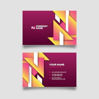 カラフルな形の抽象的な会社カードテンプレート