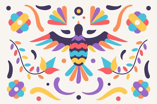Плоский красочный мексиканский фон