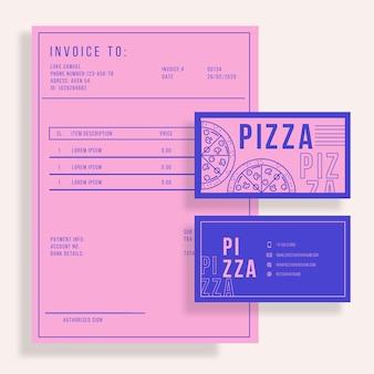 二色のピザレストランテンプレート