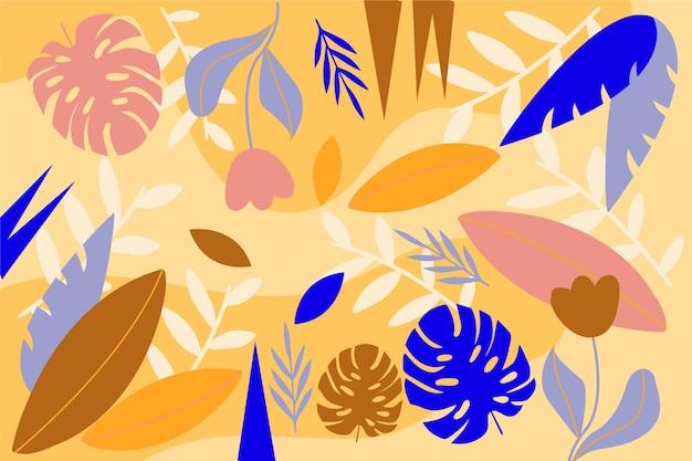 フラットなデザインの抽象的な花の背景概念