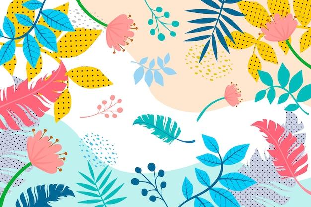 Абстрактный плоский цветочный фон