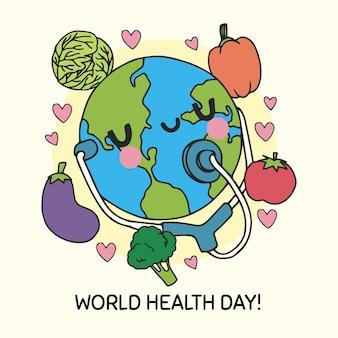 手描き世界保健デー