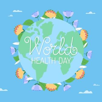 グローブと世界保健デーのコンセプト