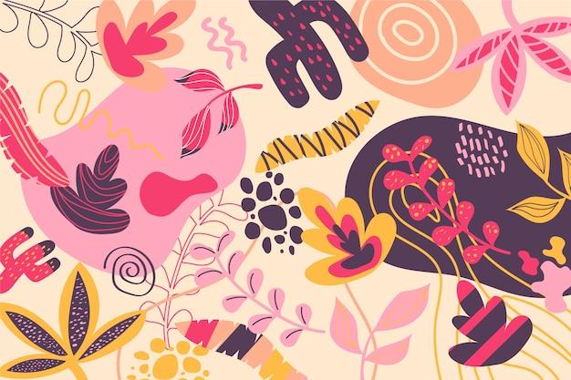 抽象的な有機形の壁紙