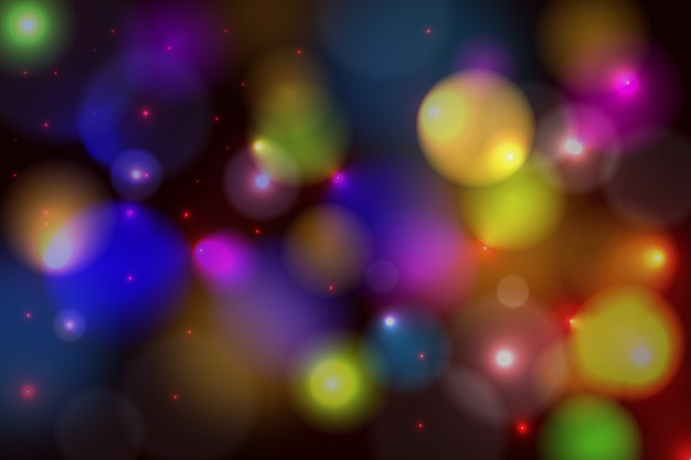 Светлый эффект боке на темном фоне