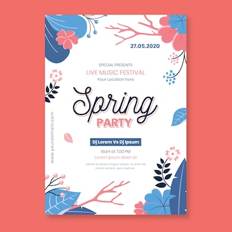 Красивый весенний шаблон постера